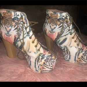 Jeffrey Campbell Lita shoes size 8.5 Havana last